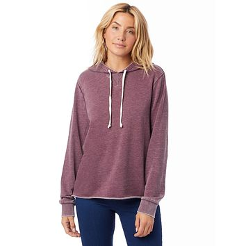 Alternative Apparel - Day Off Burnout French Terry Wine Hoodie