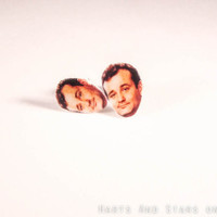 Bill Murray Stud Post Earrings by HartsAndStars on Etsy
