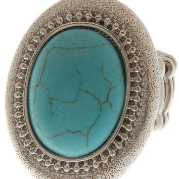 Silver and Turquoise Stone Ring