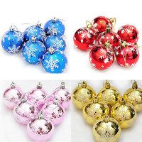 6pcs Christmas Tree SnowFlake Xmas Hanging Light Ball Party Decoration Ornament