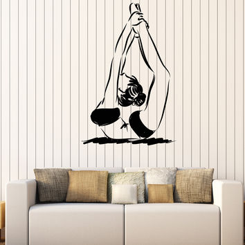 Vinyl Wall Decal Stickers Girl Gymnastics Motion Girl Exercise Unique Gift z4613