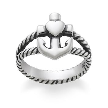 James Avery Sterling Silver Faith, Hope and Love Ring | Dillards