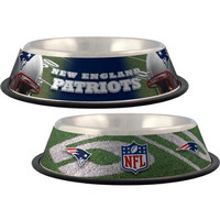 New England Patriots Stainless Dog Bowl