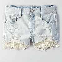 AEO Denim X Hi-Rise Shortie, Cool Torn