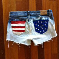 American Flag Ombre Shorts