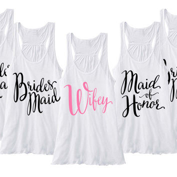 Bridal Party Tanks - Set of 5