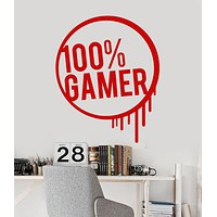 Vinyl Wall Decal Gamer Teen Room Video Games Art Stickers Unique Gift (ig3991)
