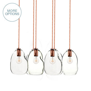 Hand Blown Glass Bubble 2-11 Pendant Light Chandelier
