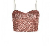 Rose Gold Sequin Bralet