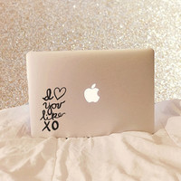I Love You Like XO - Vinyl Decal - Beyonce - John Mayer - Song Decal - Lyric Decal - Laptop Decal - Macbook Decal - Laptop Sticker - Chi O