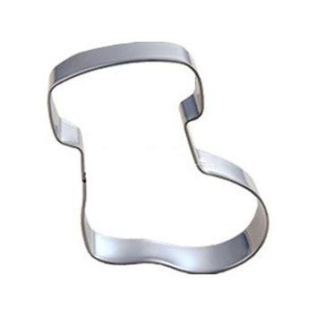 DIY New Stainless Steel Christmas Sock Cookie Cutter Biscuit Jelly Chocolate Cookie Fondant Cake Baking Tools
