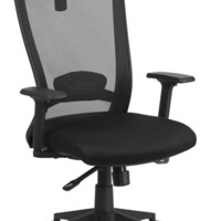 High Back Black Mesh Executive Swivel Office Chair with Back Angle Adjustment
