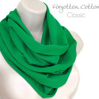 Infinity Scarf Green Kelly Green Circle Bright Summer