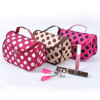 *Cosmetic Bag Dumplings Bag Ladies Sateen Bag 6 color
