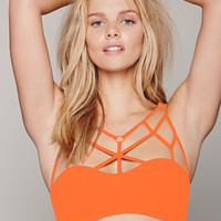 Orange Strappy Bra Top