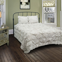 Soft Dreams Lt Gray Full/Queen Size Comforter Bed Set