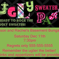 Christmas Party Ugly sweater gathering (digital file only)