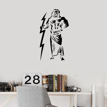 Vinyl Wall Decal Zeus King of the Gods Ancient Greek Myth Stickers Mural (ig5678)