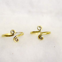 Toe rings , Toe ring, Brass Toe ring, Spiral Toe ring, ring, Spiral Design, Gypsy Look, stylish Look , Foot ring,