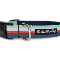 Flower Shop Stripe Dog Collar