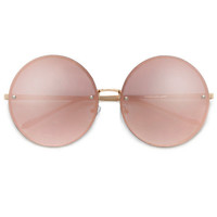 Mirror Lennon Glasses- Rose