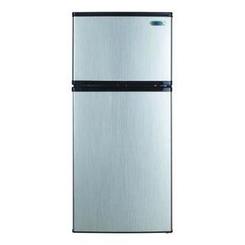Vissani 4.3 cu. ft. Mini Refrigerator in Stainless Look-HVDR430SE - The Home Depot