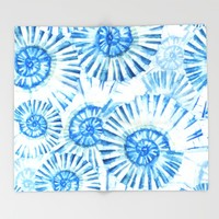 Sea Life Pattern 01 Throw Blanket by Aloke Design