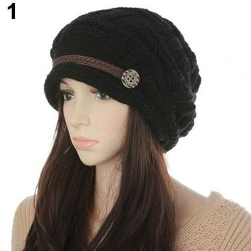 Women's Fashion Braided Autumn Winter Warm Baggy
