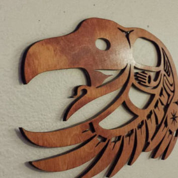 Laser cut WALL ART, wall decor, native american indian inspired bird