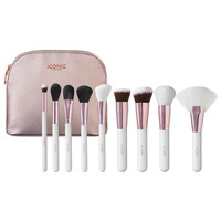 White and Rose Gold Complete Face Makeup Brush Set