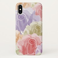 Pastel Floral Pattern iPhone X Case