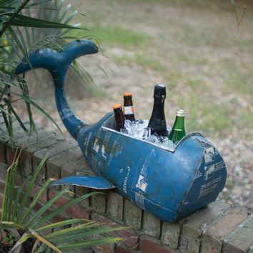 Reclaimed Metal Whale Cooler