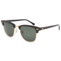 Ray-Ban Clubmaster Sunglasses Ebony/Arista One Size For Men 21711810001