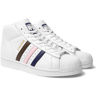Kingsman - + adidas Originals Superstar Pro Numbered Leather High-Top Sneakers