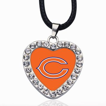 Wimpy kid Chicago Bears Necklace Best Gift for /Women/Girl/Men/Mom Pendant Necklaces For Mother's Day Gifts 2pcs/lot