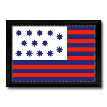 Guilford Courthouse North Carolina Revolutionary War Military Flag Canvas Print Black Picture Frame Gifts Home Decor Wall Art
