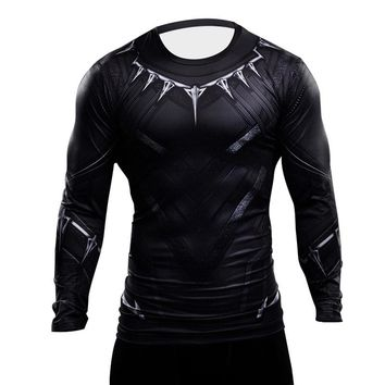 Black Panther T Shirt 3D Printed Men Shirt Captain America Avengers Iron man Civil War Tee Spiderman Fitness Clothing Crossfit