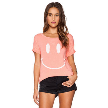 Pink Have a Nice Day Smiley T-Shirt