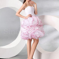 WowDresses — Enhancing Rose Ball Gown Scoop Neckline Mini Graduation Dress