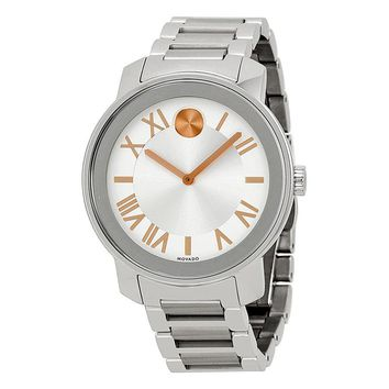 Movado Bold Silver Dial Stainless Steel Unisex Watch 3600196