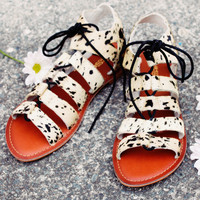 Ishka Pony Hair Sandals