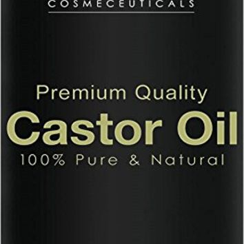 Majestic Pure Castor Oil, Wonder Hair Oil with Numerous Hair and Skin Benefits, 16 Oz