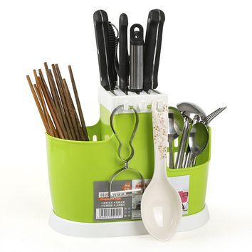 Fashion Creative Plate Rack Knife Box Fork Spoon Frame Received Kitchen Multi-function Drop Tube Tableware and