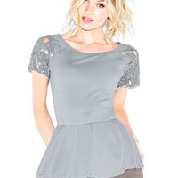 Peplum Embellished Top - Victoria's Secret