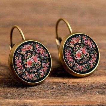 NEW Arrival Mandala Earrings OM Symbol Buddhist Zen Retro Fashion Jewelry Earrings For Women Online Shopping India