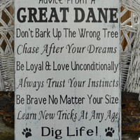 Personalized, Customized with Breed, Dog Wood Sign, Canine, Pet, Dog Advice, Dog Wisdom, Animal, Family Pet, Hand Painted Home Deor