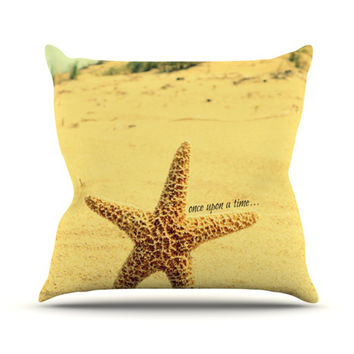 "Robin Dickinson ""Once upon a Time"" Starfish Throw Pillow"