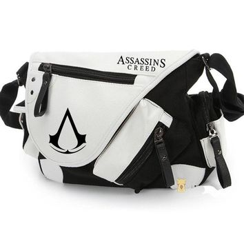 Anime Backpack School Assassin's Creed Canvas Shoulder Bag,kawaii cute Style Cosplay Message Sling Bag Messenger bag for men and women AT_60_4