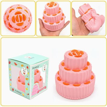 Areedy Squishy 3-Layer Fruit Cake Jumbo 11cm Slow Rising Original Packaging Collection Gift Decor