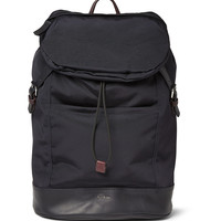 Paul Smith Shoes & Accessories - Leather-Panelled Grosgrain Backpack | MR PORTER